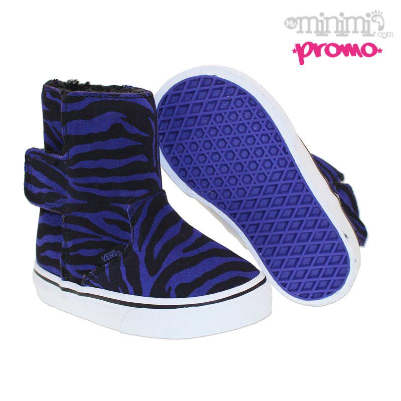 vans authentic bottes enfant slip on boots zebra noir et violet. Black Bedroom Furniture Sets. Home Design Ideas