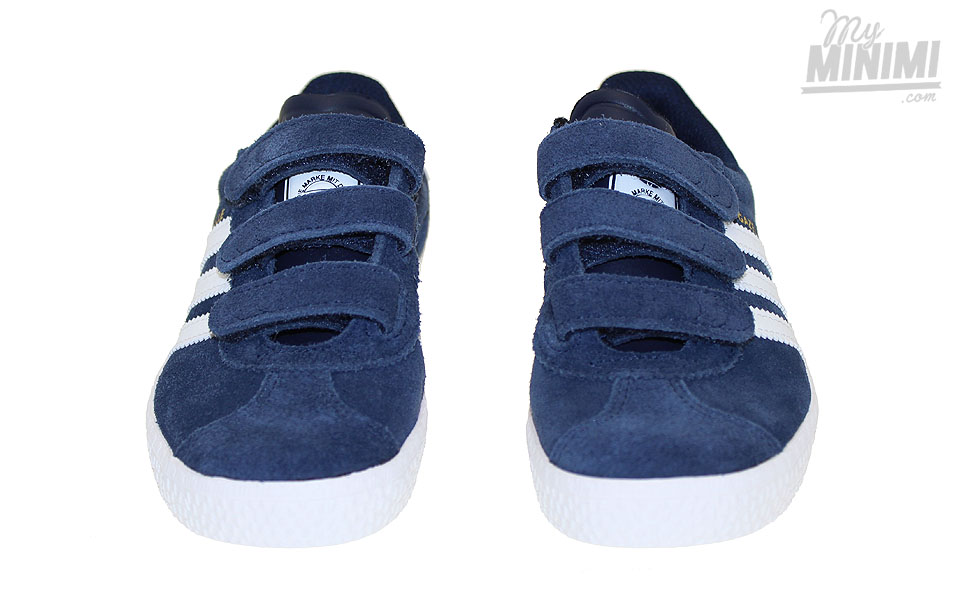 the latest f88cd 82d07 ... adidas gazelle 2 cf c baskets enfant du 28 au 35 bleu marine et blanc