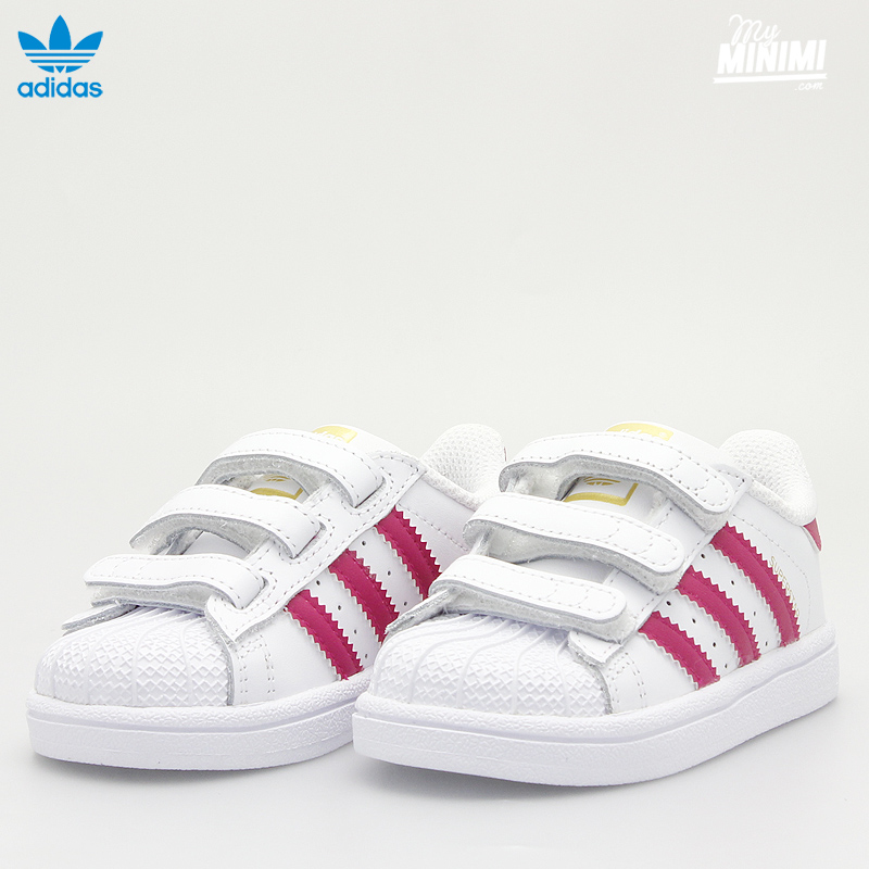 ... adidas superstar cf c white pink