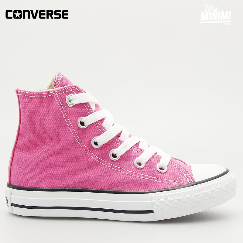 converse rose fluo