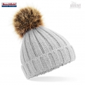 Photo Beechfield Original Bonnet Pompon et fourrure enfant 3-12 ans