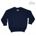 Photo My-minimi Brand SWEATSHIRT à personnaliser -Straight Outta- Navy et blanc