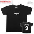 Photo My-minimi Brand Tee shirt Family 1st little Logo pour enfant - Noir et blanc