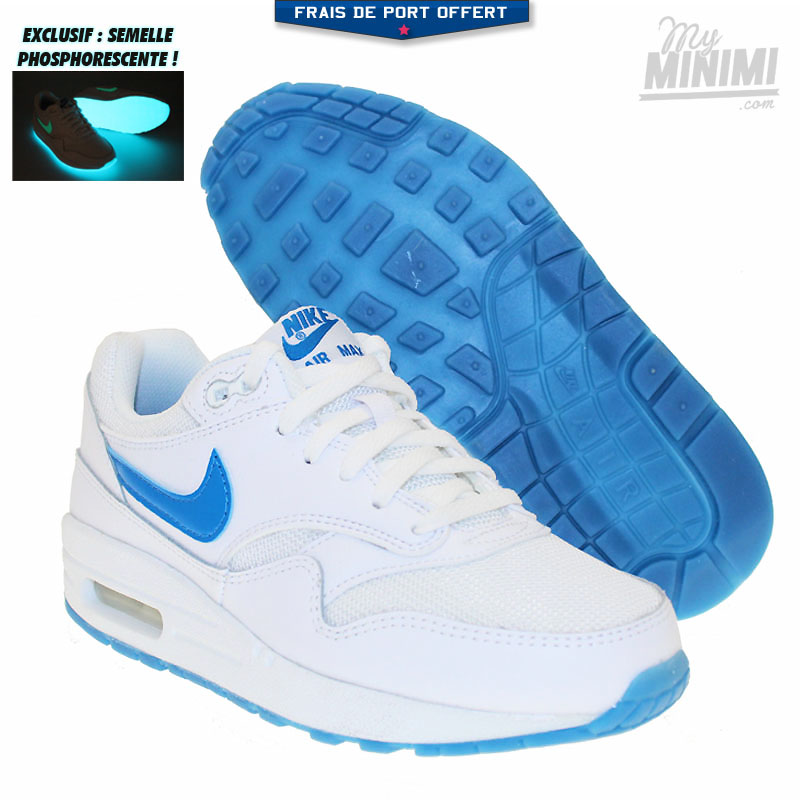air max 1 blanc et bleu