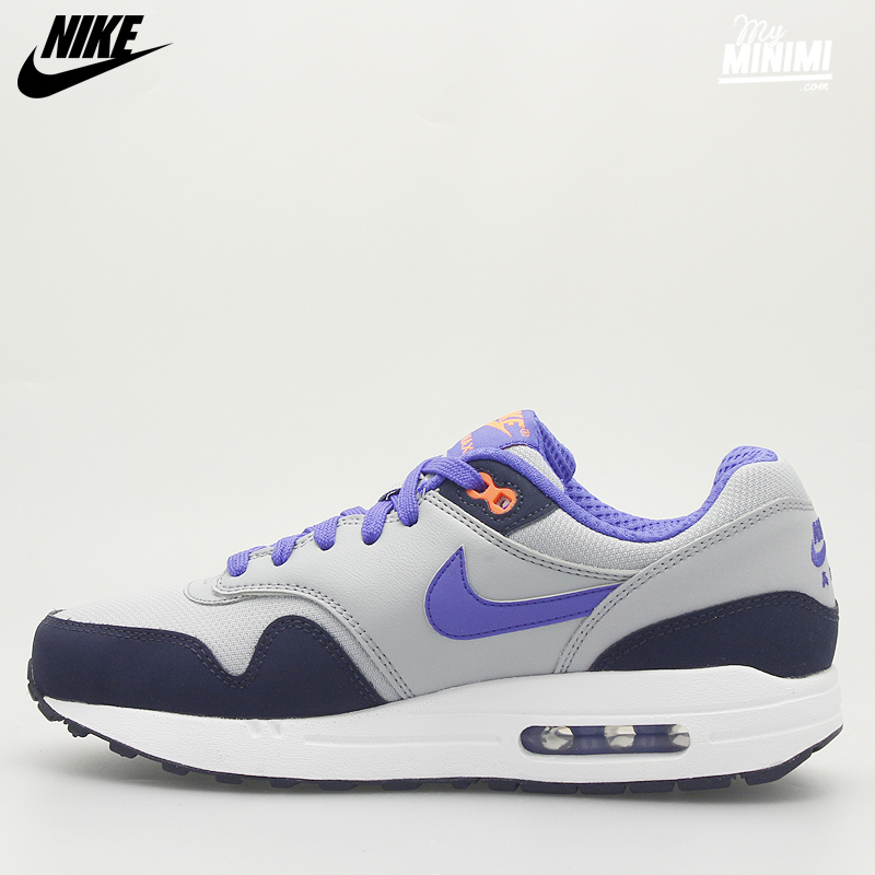 Nike Air Max 1 Junior Grise Et Orange Gris 36