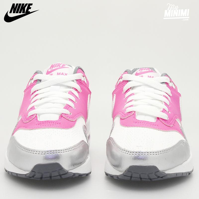 Nike Air Max 1 Blanc Gris Rose