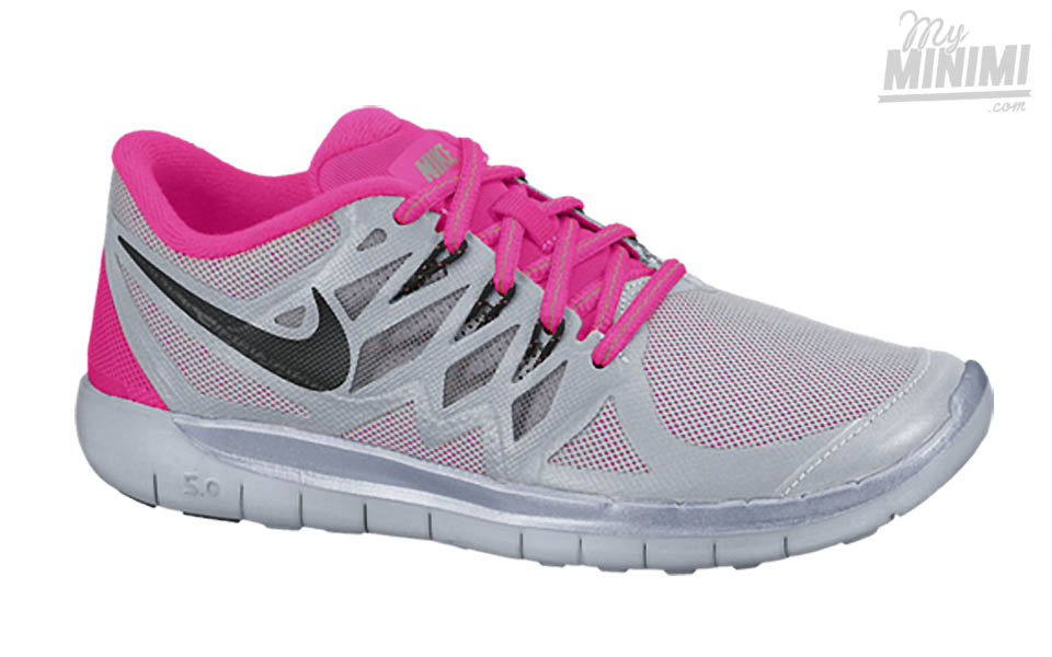 Chaussures Nike Free 5.0 grises enfant