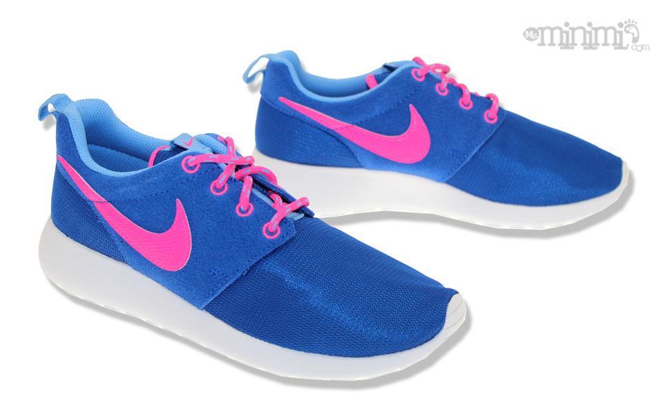 roshe run bleu et rose