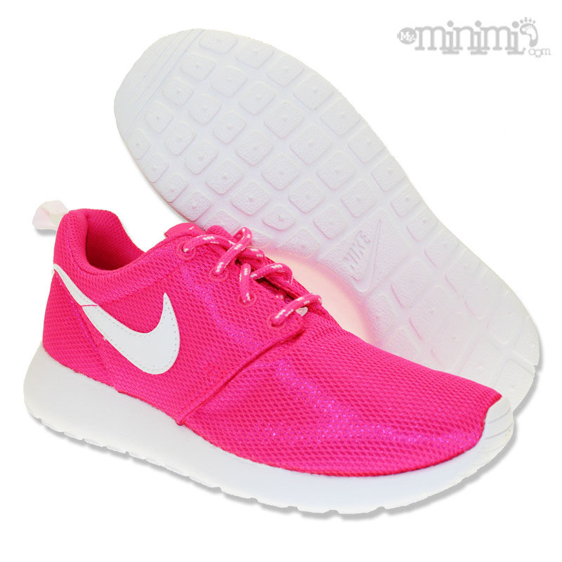 nike roshe run rose et blanc