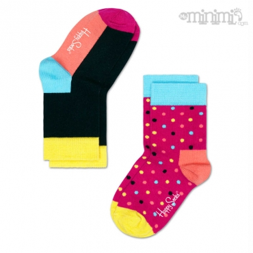 Happy Socks chaussettes enfant 2 Pack Dots - Multicolore