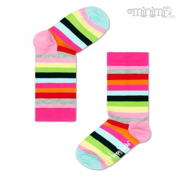 Happy Socks chaussettes enfant Stripe - Multicolore