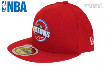 Casquette enfant New Era 59 Fifty NBA - Detroit Pistons Rouge