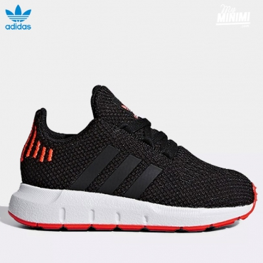 adidas Original Swift Run - baskets enfant - Noir et rouge