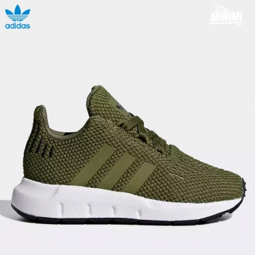 adidas Original Swift Run - baskets enfant - Vert olive