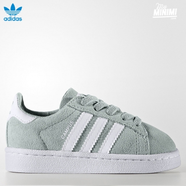 adidas Originals Campus - baskets enfant du 19 au 27 - vert d'eau