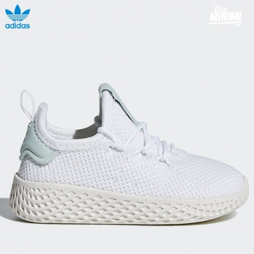 adidas originals Hu Pharrell Williams - baskets enfant du 19 au 27- blanc et vert d'eau