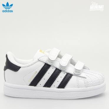 ADIDAS SUPERSTAR FOUNDATION CF I - BASKET ENFANT DU 19 AU 27 - BLANC ET NOIR