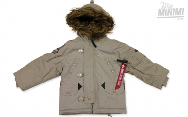 Alpha Industries blouson Kids Explorer - veste enfant 4-10 ans - Beige