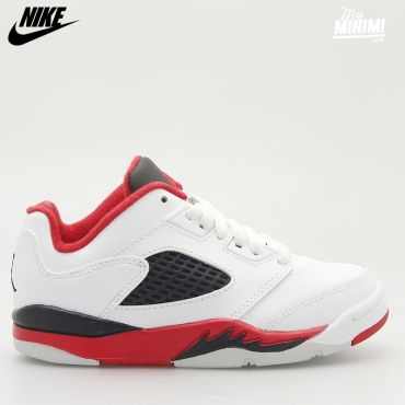 JORDAN 5 RETRO LOW FIRE RED - BASKETS ENFANT DU 28 AU 35