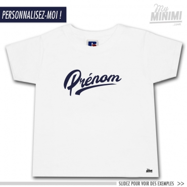 967d0cbc84c95 My-minimi Brand tee-shirt Altavista à personnaliser - blanc