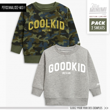 My-minimi Brand sweatshirt Good kids cool kids à personnaliser - multicolor