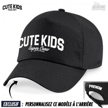 My-minimi Brand casquette personnalisée pour enfant Cute Kids - noir blanc 81d87e9796b