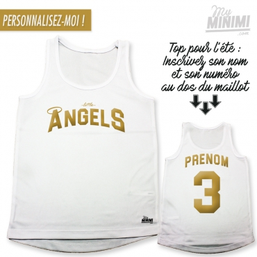 My-minimi Brand jersey Little Angels pour enfant -blanc et or