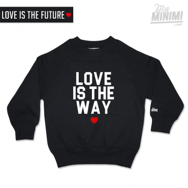 My-minimi Brand sweatshirt Love ist the way - noir