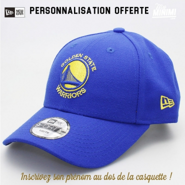 New Era casquette 6 à 12 ans curve enfant- Golden State Warriors - Bleu