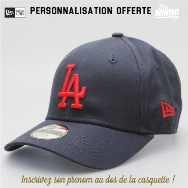New Era casquette 6 à 12 ans curve enfant - Los angeles Dodgers - Navy et rouge