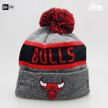 NEW ERA - Kids - Bonnet enfant 4-12 ans Chicago Bulls Gris et rouge
