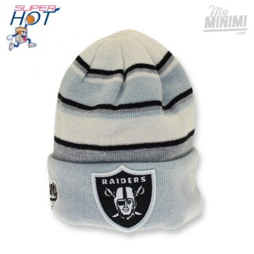 NEW ERA - Kids - Bonnet enfant 2-10 ans Cuff Oakland Raiders - Gris blanc et Bleu