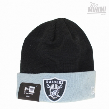 NEW ERA - Kids - Bonnet enfant 2-10 ans Cuff Oakland Raiders - Noir et Gris