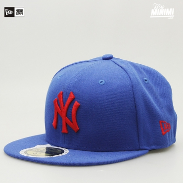 Casquette enfant New Era 59 Fifty - New York Yankees - Bleu et rouge