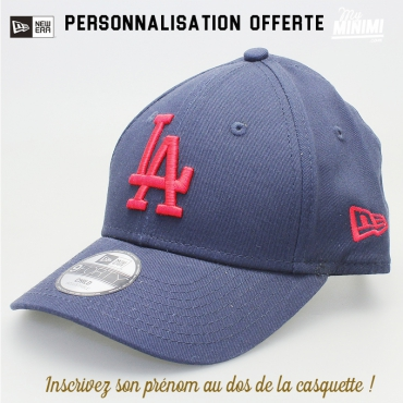 New Era casquette 3 à 6 ans curve enfant- Los angeles Dodgers - Navy et rouge