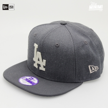 Casquette Snapback New Era enfant 4-12 ans - Los Angeles Dodgers Grise