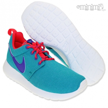 Nike Roshe Run GS - baskets enfant du 36 au 38,5 - Vert, violet et infrared