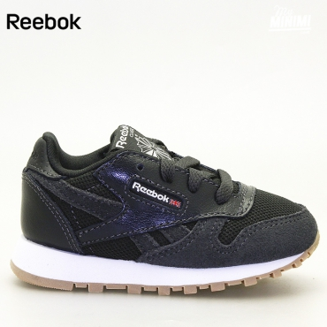 Reebok CL Leather ESTL - Basket enfants du 19 au 27 - Noir