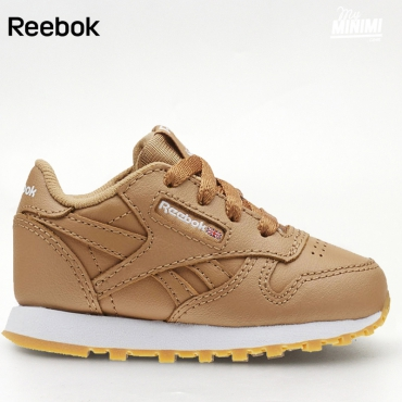 Reebok CL Leather ESTL - Basket enfants du 19 au 26 - Beige