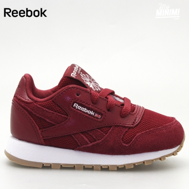 Reebok CL Leather ESTL - Basket enfants du 19 au 27 - bordeaux