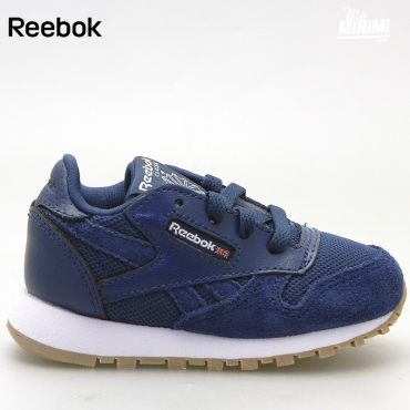 Reebok CL Leather ESTL - Basket enfants du 19 au 27 - bleu