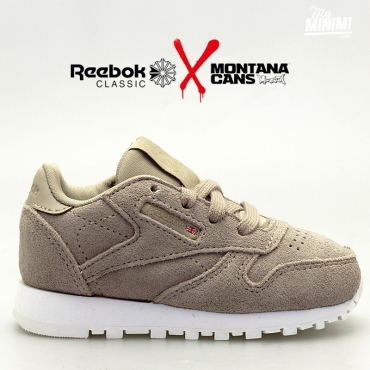reebok CL Leather MCC Montana - baskets enfant - beige