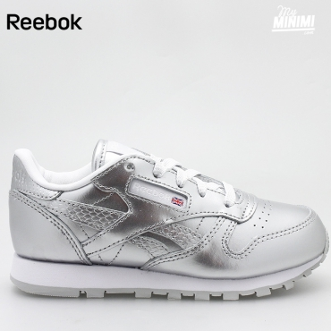 Reebok Classic Leather - Basket enfants du 27 au 32 - Argent