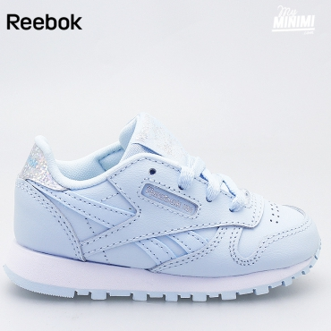 Reebok Classic Leather Pastel - Basket enfants du 19 au 27 - Bleu