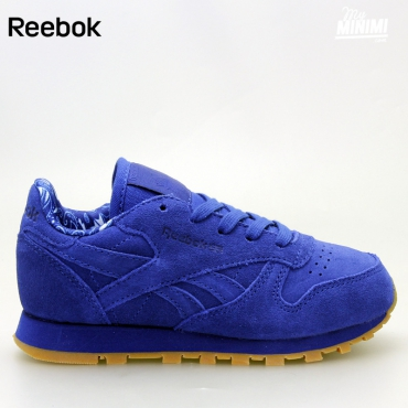 Reebok CL Leather TDC - Basket enfants du 28 au 32 - bleu royal