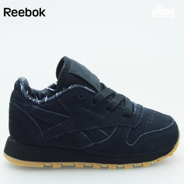 Reebok CL Leather TDC - Basket enfants du 19 au 27 - noir