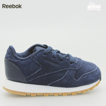 Reebok CL Leather TDC - Basket enfants du 19 au 27 - Navy