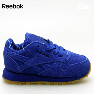 Reebok CL Leather TDC - Basket enfants du 19 au 27 - bleu royal