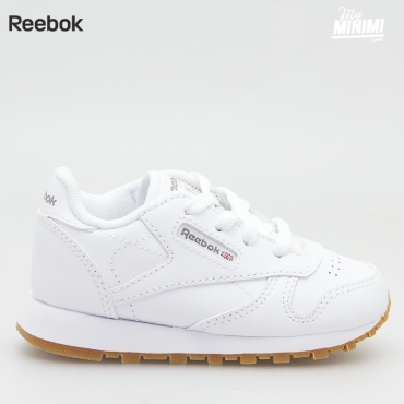 Reebok Classic Leather - Basket enfants du 19 au 27 - blanche et gum