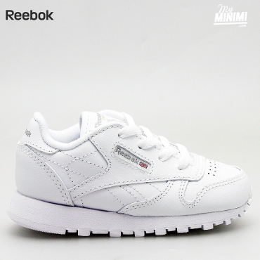 Reebok Classic Leather - Basket enfants du 19 au 27 - blanche
